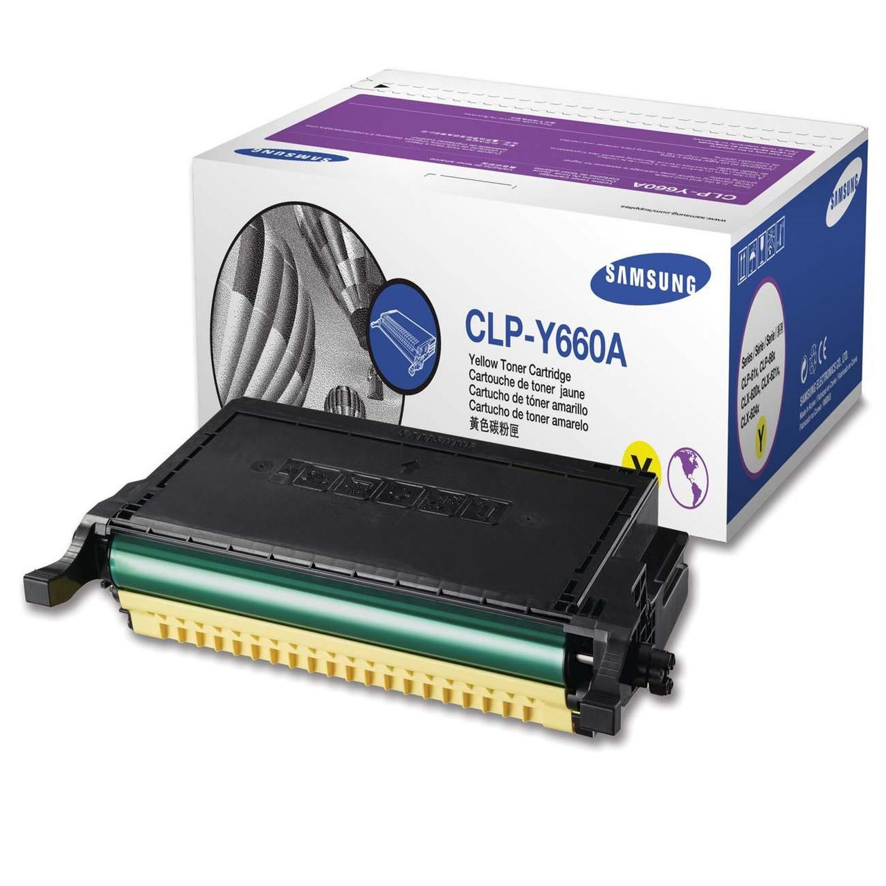 Заправка картриджа CLP-Y660A принтера Samsung CLP-610ND/ 660N YELLOW