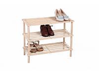Полочка для обуви деревянная, разборная, 3 уровня, 60*25,6*50,7 см, ТМ МД
