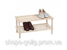 Полочка для обуви деревянная, разборная, 2 уровня, 60*25*50,7 см, ТМ МД