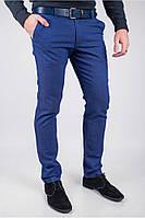Мужские брюки теплые синие (129F027)