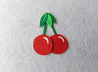Нашивка ягоды из фетра Вишня для рукоделия и творчества