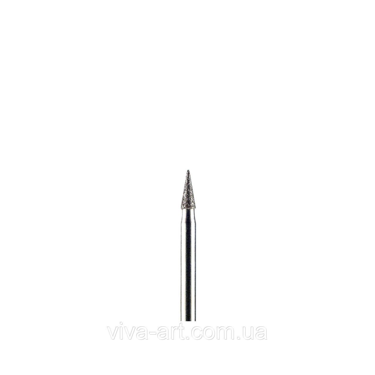 Алмазна насадка конус загострений, 2.3 мм, середній абразив, Diaswiss (Швейцарія)