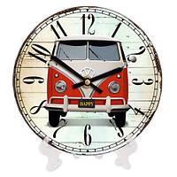 Круглые часы с принтом Авто 18 см