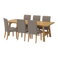 Стол IKEA  MÖCKELBY / HENRIKSDAL 6 стула