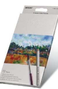 Карандаши цветные 12 цветов акварельные Raffine Marco №7120-12CB