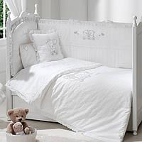 Детский постельный комплект Lovely Bear (Белый, 6 элементов), Funnababy