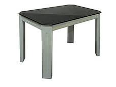 Стол на кухню стеклянный на деревянных ножках ДКС Модерн Антоник, цвет на выбор, фото 2