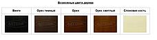 Стол на кухню стеклянный на деревянных ножках ДКС Модерн Антоник, цвет на выбор, фото 3