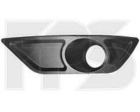 Решетка  переднего бампера левая сторона с отверстиями п/туманок DAEWOO NEXIA N150 08-