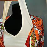 Блуза жакет двойка с длинным рукавом и белой майкой, фото 6