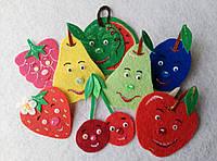 Набор ягоды - фрукты из фетра для рукоделия и творчества