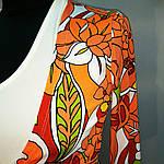 Блуза жакет двойка с длинным рукавом и белой майкой, фото 5