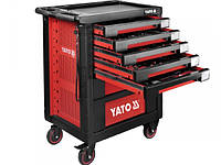 YATO Шафа з інструментами 189 елем. 14 лотків на 4 колесах; 7 шуфляд; 95,8х 76,6х 46,5 см