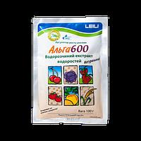 Регулятор роста с тремя разновидностями морских водорослей: ламинария, аскофилия и саргасум Альга 600, 100г