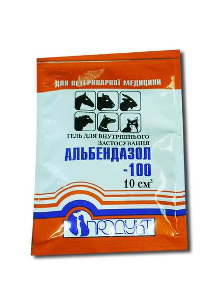Альбендазол-100 гель 5 мл (Продукт) ветеринарный противопаразитарный препарат