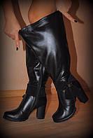 Сапоги зимние кожаные, индивидуальный пошив на любую полноту