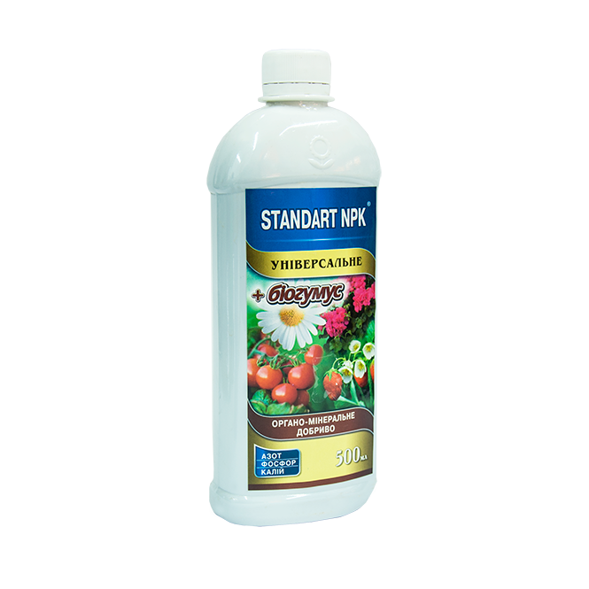 Органо-мінеральне добриво з біогумусом для підживлення всіх видів рослин(універсальне) Standart NPK