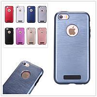 Чехол для телефона TPU + PC case iPhone 5s blue противоударный