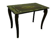 Стеклянный стол для кухни с рисунком ДКС Классик-2 Антоник, цвет на выбор, фото 2