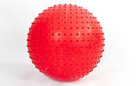 Мяч для фитнеса (фитбол) массажный 75см PS FI-078(75) (PVC, 1350г, цвета в ассор ,ABS технология)