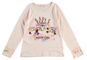Реглан для девочки LC Waikiki светло-розового цвета с котиками на груди