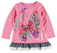 Реглан для девочки LC Waikiki розового цвета с надписью Follow you dreams