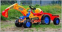 Детский педальный трактор с прицепом TDD-238