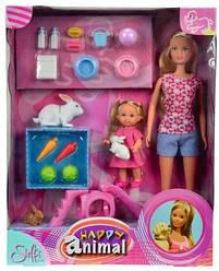 Кукольный набор Штеффи и Еви с животными 5732156