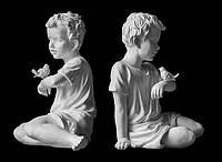 Скульптура мальчика из искусственного мрамора № 23