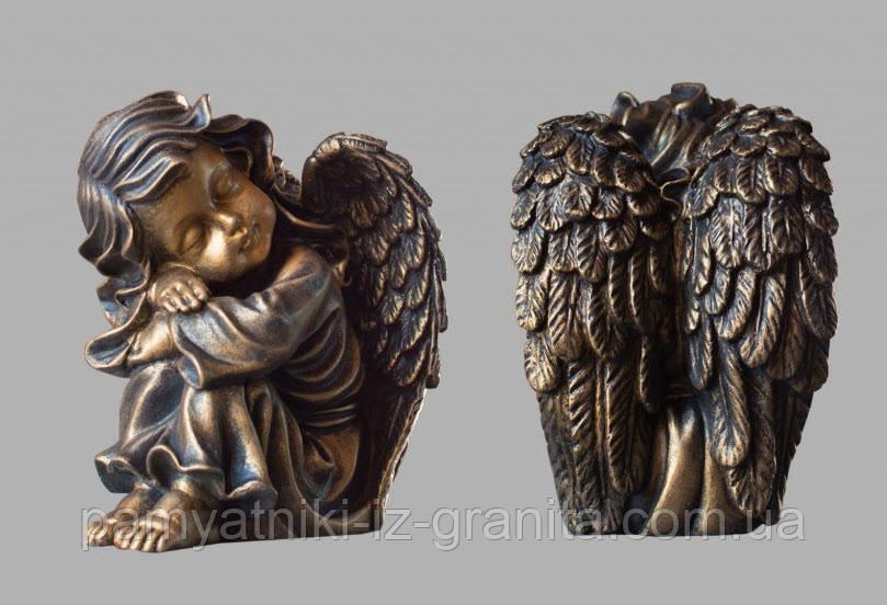 Скульптура ангелика з штучного мармуру № 5 (тонований)