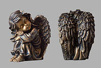 Скульптура ангелочка из искусственного мрамора № 5 (тонированный)