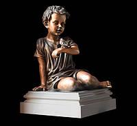Скульптура мальчика из искусственного мрамора № 22 (тонированный)