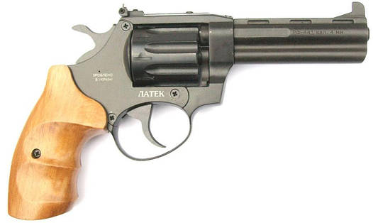 Револьвер ЛАТЭК Safari РФ-441м (бук) под патрон флобера 4мм