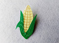 Нашивка овощи из фетра  Кукуруза  для рукоделия и творчества