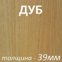 Столярная плита шпонированная 2500х1250х39мм - Дуб (2 стороны)