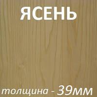 Столярная плита шпонированная 2500х1250х39мм - Ясень светлый (2 стороны)