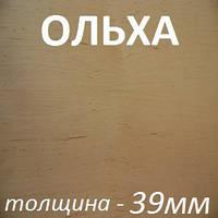 Столярная плита шпонированная 2500х1250х39мм - Ольха