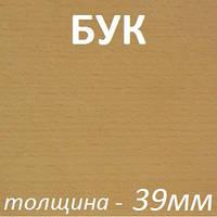 Столярная плита шпонированная 2500х1250х39мм - Бук (2 стороны)