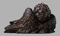 Скульптура ангелочка из искусственного мрамора № 15  (тонированный)