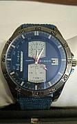 Мужские часы Сurren кварцевые ремешок синий нейлон, циферблат синий, по корпусу минутное время