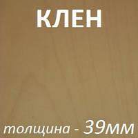 Столярная плита шпонированная 2500х1250х39мм - Клен (2 стороны)