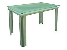 Стеклянный стол для кухни с рисунком Гелиос Антоник, цвет на выбор, фото 2