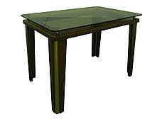 Стеклянный стол на кухню  Гелиос Антоник, цвет на выбор, фото 3