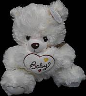 Мишка с сердцем 34 см. Мягкая игрушка Плюшевый Медведь. Подарок девушке, девочке, детям
