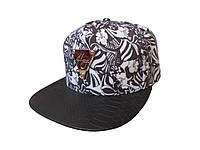 Черная кепка Hater с белыми листьями