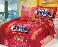 Комплект постельного белья  le vele сатин размер полуторный f1 red