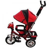 Велосипед трехколесный с фарой TURBOTRIKE M 3115-3HA Красный
