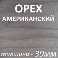 Столярная плита шпонированная 2500х1250х39мм - Орех Американский (2 стороны)