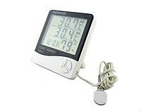 Термометр гигрометр HTC-2, часы с выносным датчиком