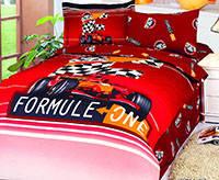 Комплект постельного белья  le vele сатин размер полуторный formula red